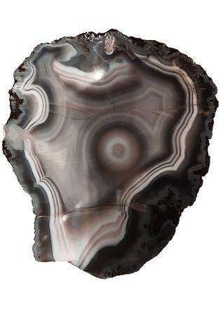 ore exhibit on a white background