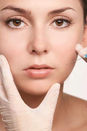 Regenerative healthcare mask. Girl hyperpigmentation remove. Woman arm female esthetic rejuvenation peeling.