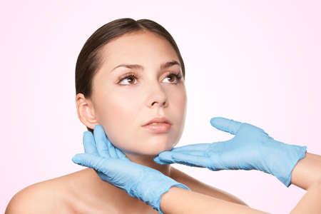 esthetics ultra technology. Facial massage. Beauty spa treatment. girl cosmetology.