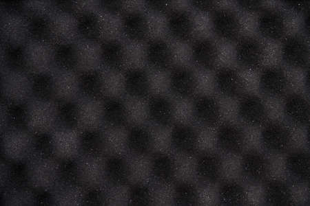 Foam sound protect wall texture. Audio recording background. Pyramid shape sponge waves. Soundproof professional detail. Music album mastering. Rubber design. Acoustic panel Stock Photo