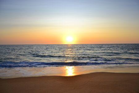 scenic beautiful sunset on the Atlantic ocean