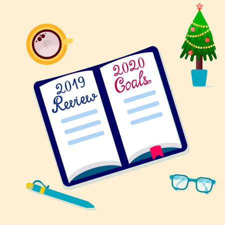 2020 Goals. 2019 Reviews. To do list for New Year. Checklist for results and plans in the notebook