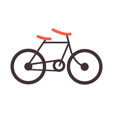 Bike icon vector. Cycling concept. Sign for bicycles path Isolated on white background.