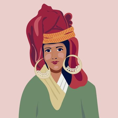 Eastern, Muslim. Young arab business woman. Female portrait. Nations and races.