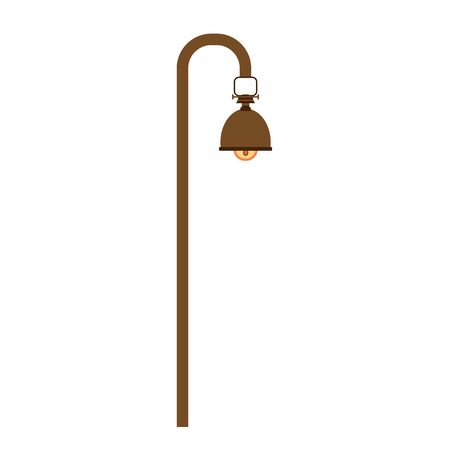 Street lamp on a white background. Modern and antique street lamp. Element for landscape construction. Vector illustration for any design. For flyers, stickers Ilustrace