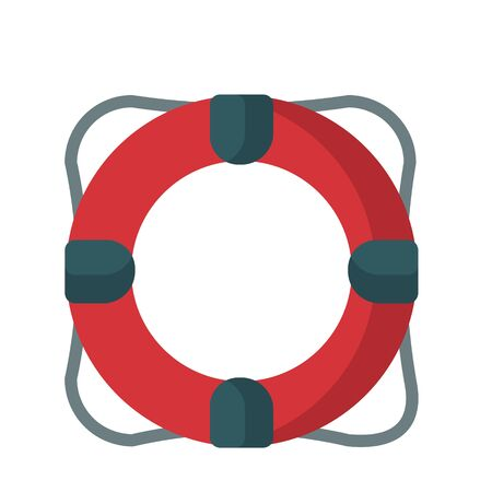 Cartoon lifebuoy colorful illustration isolated on white background, summer, sea, vacation, travel. Lifeguard tool. Icon, icon, element for the design of banners, posters.