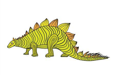 Dinosaurs are prehistoric. Cute dinosaur of green color. Wall decal, sticker, translator, children s birthday.
