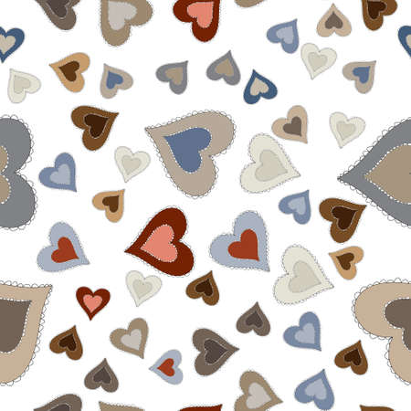Romantic Seamless Pattern with hearts. Happy Valentine s Day concept vector illustration trendy design.