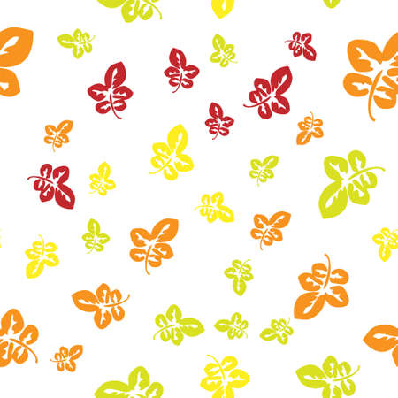 Seamless pattern with red and yellow autumn leaves. For the design of wallpaper, wrapping paper, fabric Ilustrace