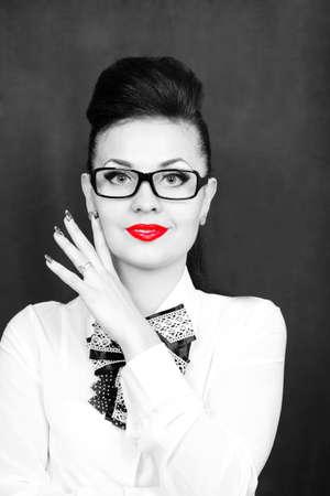 Black and white photo of a beautiful woman Reklamní fotografie