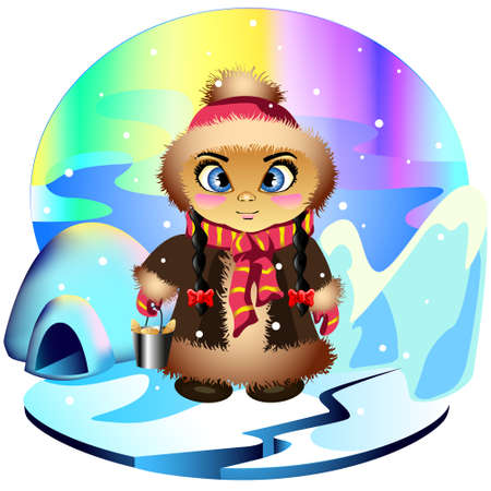 Eskimo girl Vector