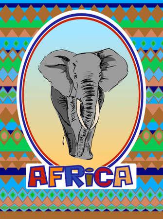 african art: African art brochure flyer design vector template.