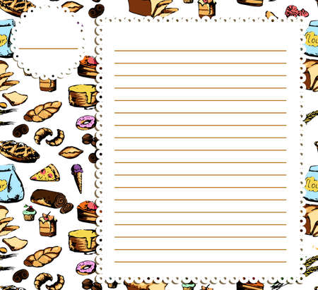 cookery: cookbook background, Can be used for cooking, bakery and food recipe background, layout, banner, web design, brochure template.  text can be added. Vector illustration