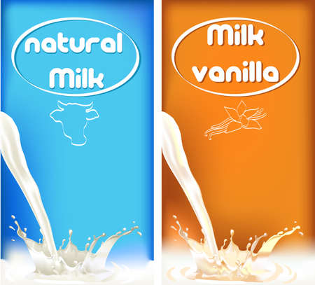 milk splash, package design of dairy products