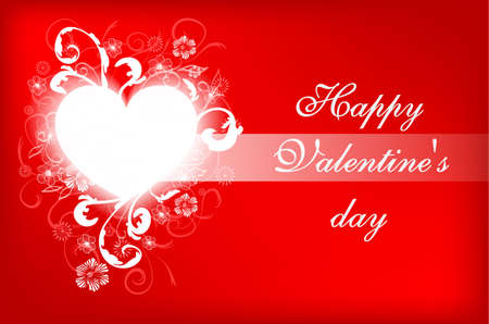 february 14: Happy Valentines Day Card Design. February 14. Vector blurred background, heart.