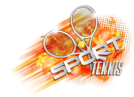 tennis racquet: victory design sport tennis, racquet ball and text