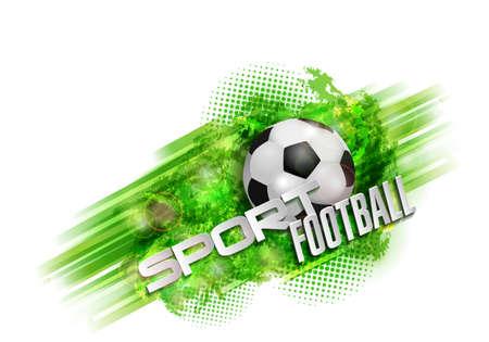 bannière football: conception des textes sport le football bannière balle Illustration