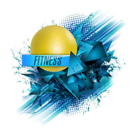 Abstracte achtergrond voor fitness en sport