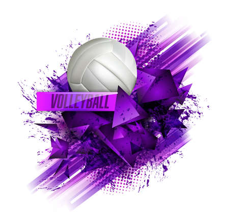 volleyball text on an abstract background, sports