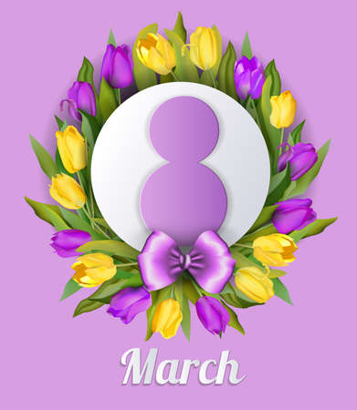 Banner for the International Womens Day. Ilustrace