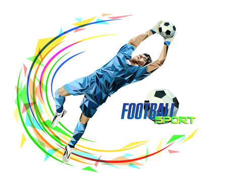 Soccer player with a graphic trail Illustration