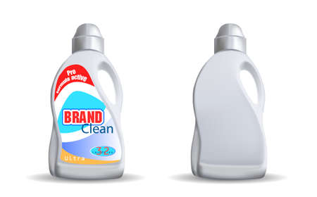 Blank plastic bottle and with a label vector