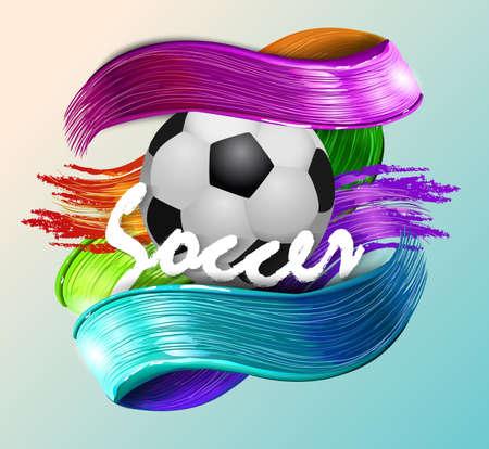 football banner ball vector illustration design.