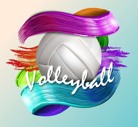 volleyball ball background text 矢量图像