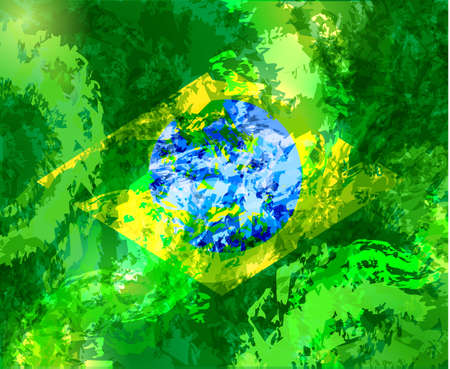 abstract background with Brazilian flag image