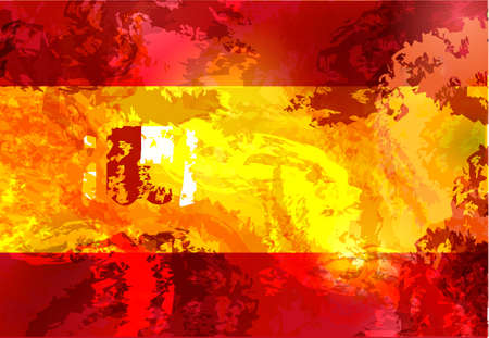 Spain grunge flag isolated vector in official colors and Proportion