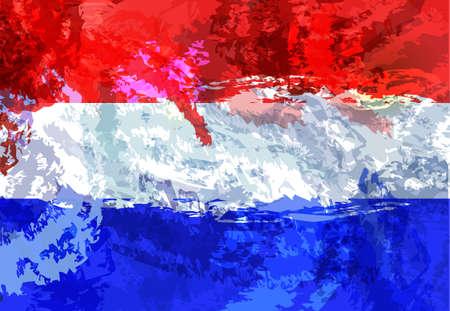 Netherlands flag. Netherlands national symbol. Amsterdam. Northern Europe. Country souvenir design. Illustration