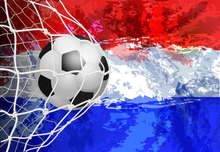 football world or european championship with ball and netherlands flag colors. Illustration