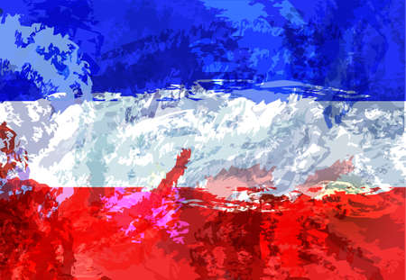Flag of Yugoslavia. Beautiful brush strokes. Abstract concept. Elements for design.
