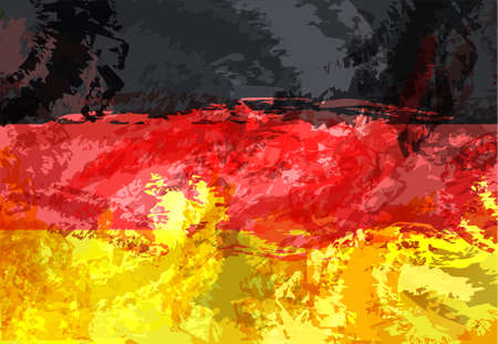 Vector geometric background in germany flag concept