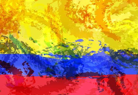 abstractly Colombia flag background design Illustration
