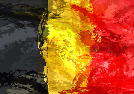 Belgian grunge flag. flag with a texture