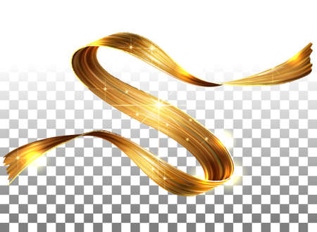 Vector 3D Paint Curl. Abstract Spiral Brush Stroke. Flowing Ribbon Shape. Digital Liquid Ink. Dynamic Artistic Wave. Isolated Background Design. Acrylic Splash Ribbon. Calligraphic Brushstroke Loop. G