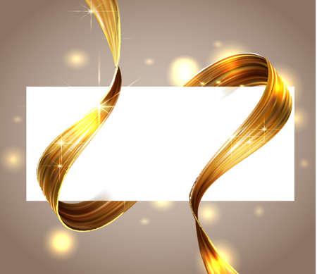 3d abstract fluid design. Colorful modern background with twisted brush stroke, smear waves, paint splash curl, splatter gold color, modern design