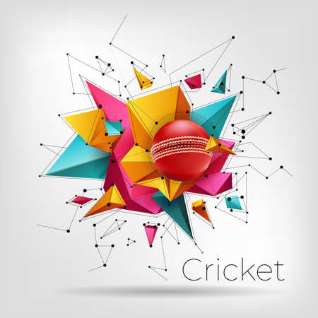 Realistic cricket triangle abstraction elements for live cricket League poster or flyer design.