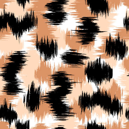 Leopard abstract texture vector background, seamless pattern animal skins