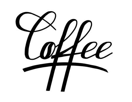 Vector illustration of coffee lettering for cafe.