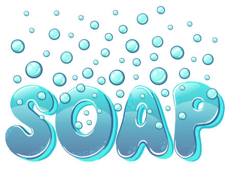 A bar of soap with foam isolated on a white background. soap and soap bubbles