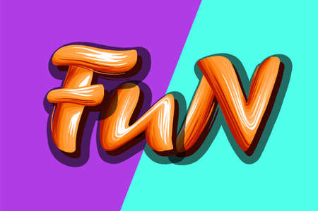 Fun lettering on a bright vector lettering background.