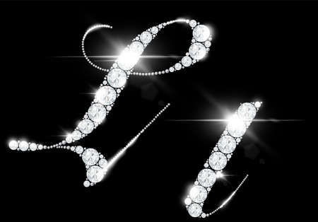 diamond letters from rock crystal alphabet