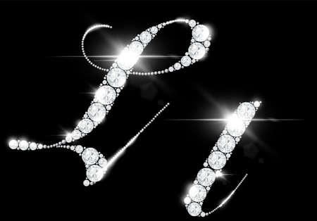 diamond letters from rock crystal alphabet 免版税图像 - 158169315