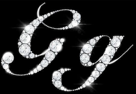 diamond letters from rock crystal alphabet 免版税图像 - 158169317