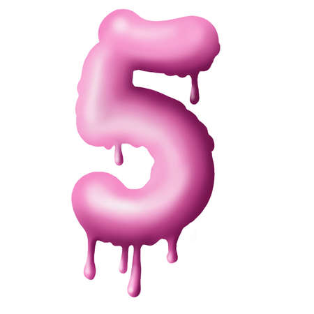 dripping pink paint on letters, alphabet
