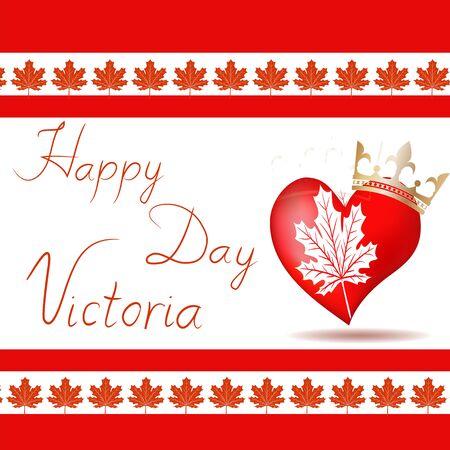 Vector illustration of Happy celebrate Victoria Day.