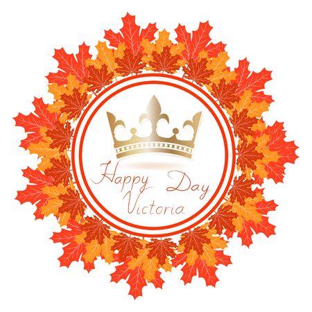 Canada Vector illustration of Happy celebrate Victoria Day.