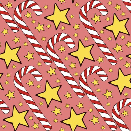 Colorful vector caramel cane pattern on background. Spiral collection. Vector isolated spiral icon. Geometric striped graphic background. Christmas holiday. Sweet cream Illustration